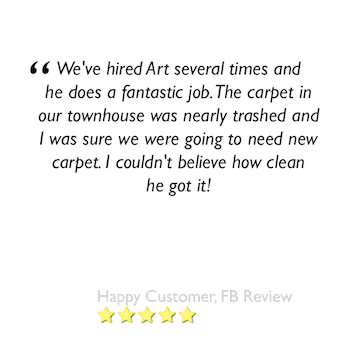 carpet cleaning review of customer who used our services several times and had great results