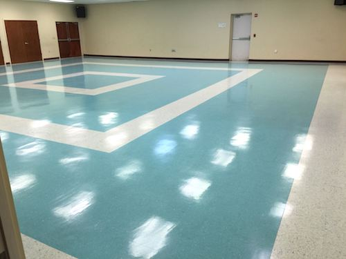 Commercial gym floor cleaning