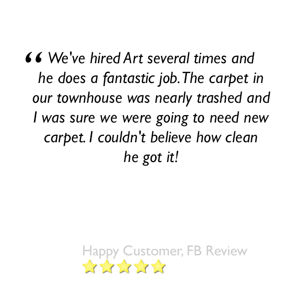 Another 5 star review about our carpet cleaning service in orlando florida